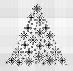 Эти три бесплатных схемы для вышивки крестом новогодних елочек вы найдете.