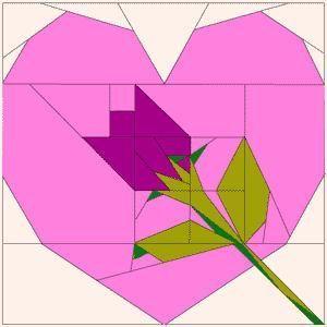 свой цитатник или сообщество!  Схемки блоков для шитья из лоскутков сердечек, и последовательность пришивания.