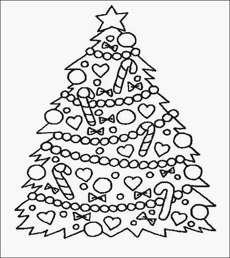 Printable Christmas Tree Ornaments Coloring Pages!