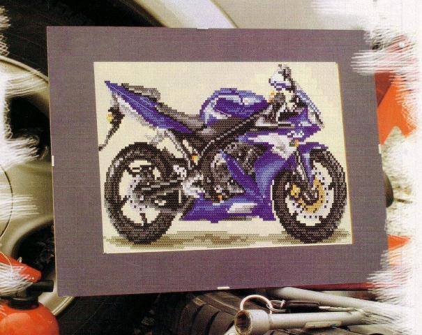 Схема Вышивки Крестом Мотоциклов Кот Байкеров
