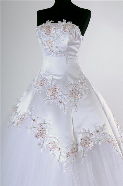 Романтическая бисером тафты бальное платье старинные свадебные платья.