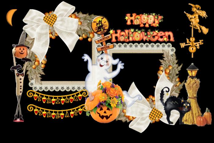 Halloween Frame For Blog (700x466, 427Kb)
