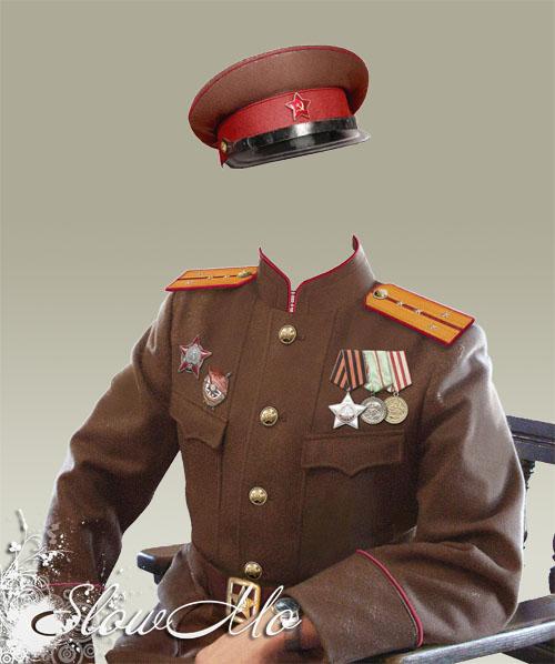 Офицер в орденах