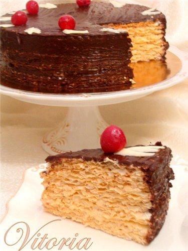 ...сладкого то на выручки приходят вафельные коржи,сгущёнка и шоколад.