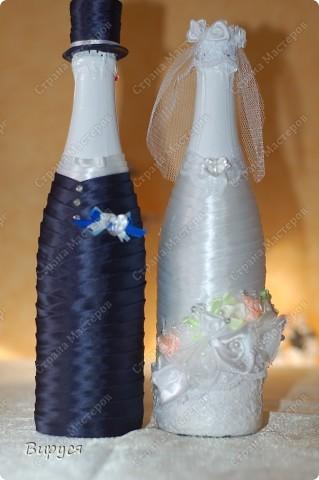 Свадебная бутылка-жених Мастер-класс своими руками
