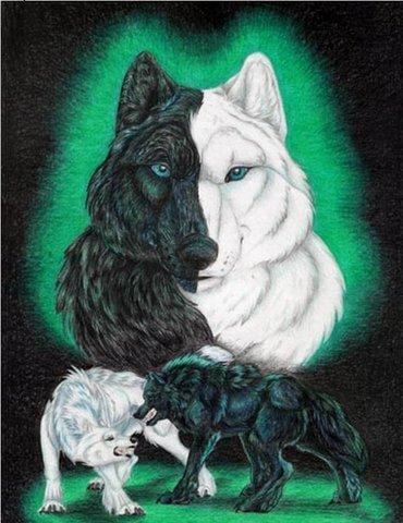 """Рхема вышивки Волки 3"""""""