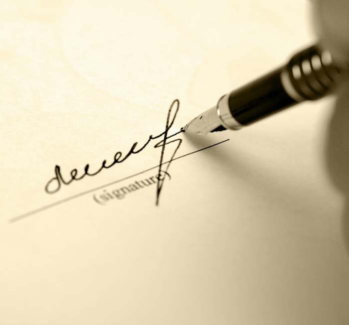 Signature at end of cover letter