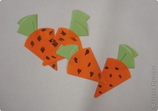 Морковка из бумаги своими руками
