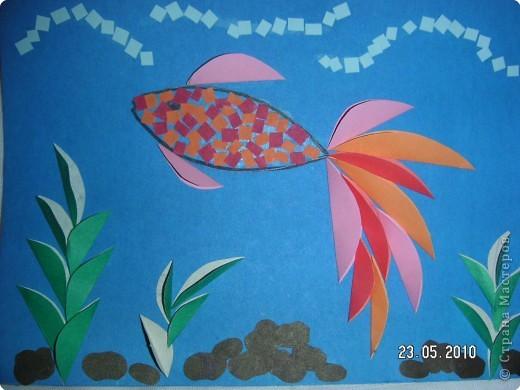 Аппликация аквариум для рыбок