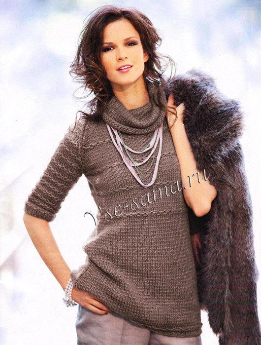 Dlinnyi-pulover-s-korotkimi-rukavami-ris (530x700, 108Kb)