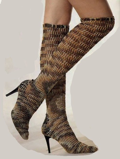 Схемы вязания сапог крючком.