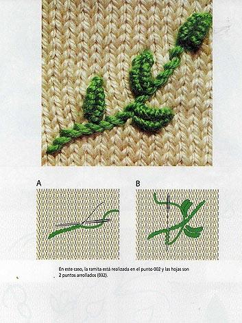 Вышивка на вязаных изделиях крючком