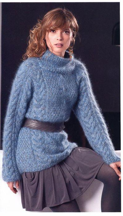 Пуловер из ангоры и кид-мохера.