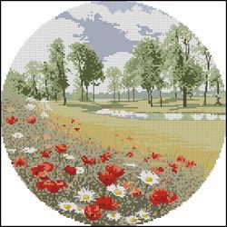 Summer Meadow, The John Cleyton Сollection.  Летний луг.  Из коллекции Джона Клейтона.  Панно.