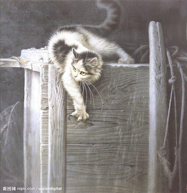 Кошки художника Сюй Синьци (3) (600x619, 92Kb)