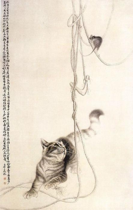 Кошки художника Сюй Синьци (6) (443x700, 266Kb)