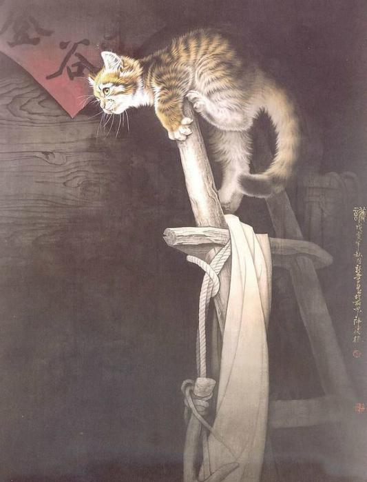 Кошки художника Сюй Синьци (8) (533x700, 288Kb)
