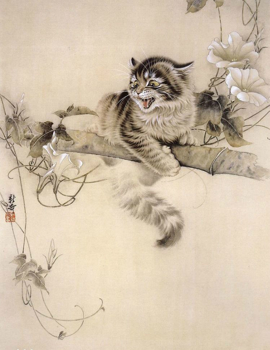 Кошки художника Сюй Синьци (10) (539x700, 324Kb)