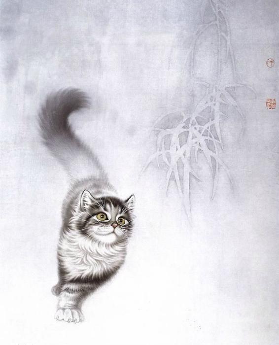 Кошки художника Сюй Синьци (11) (566x700, 231Kb)