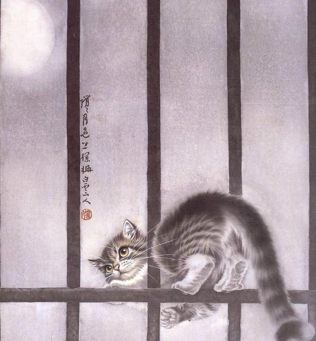 Кошки художника Сюй Синьци (14) (649x700, 397Kb)