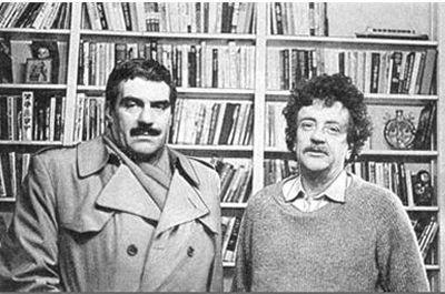 1982 год. Сергей Довлатов и Курт Воннегут. Фото Нины Аловерт (400x265, 29Kb)