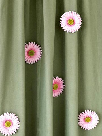 47Цветы из бумаги на шторы