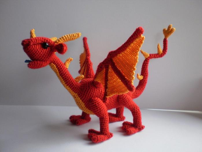 Голубой дракон - амигуруми