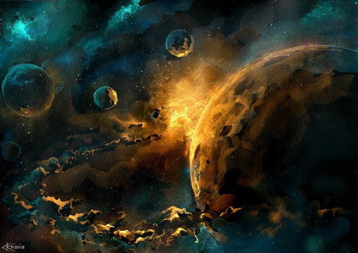 Акварель, Неизвестный Сатурн