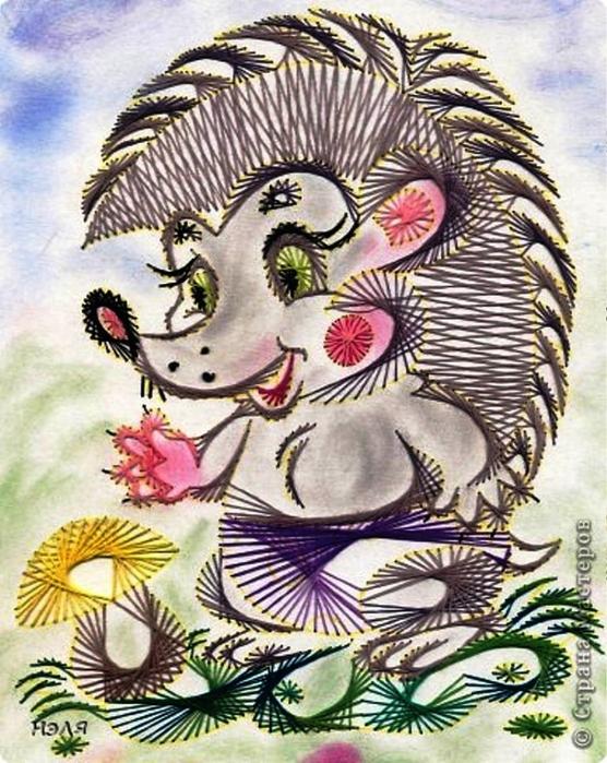 【转载】儿童手工:美丽的动物绣