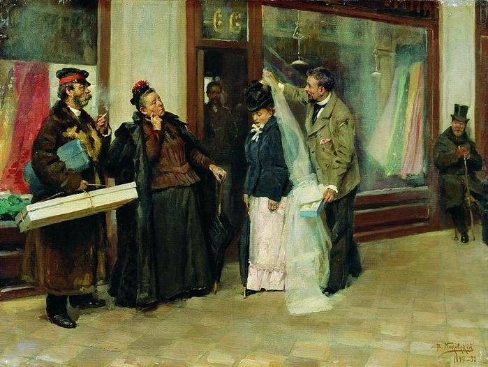 Маковский В.Е. Выбор приданного 1898 (700x526, 330Kb)