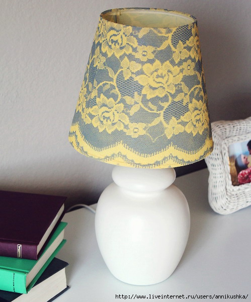 Абажуры настольных ламп своими