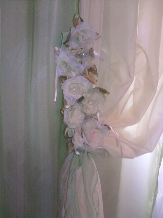 Розы из органзы своими руками для штор мастер класс
