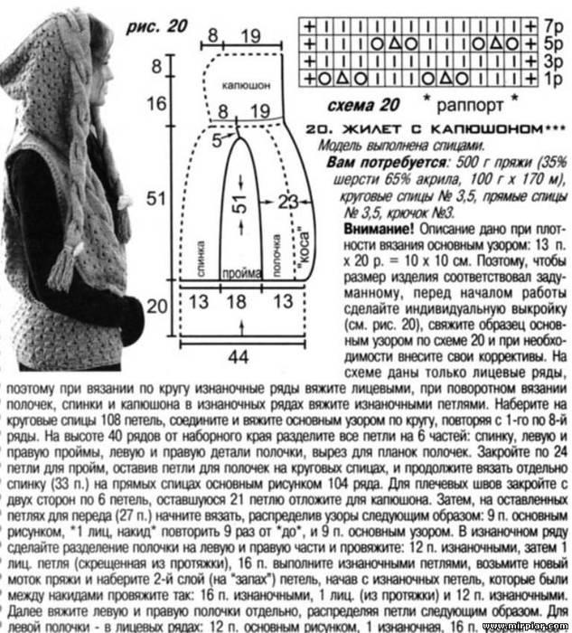 Выкройка Болеро С Капюшоном