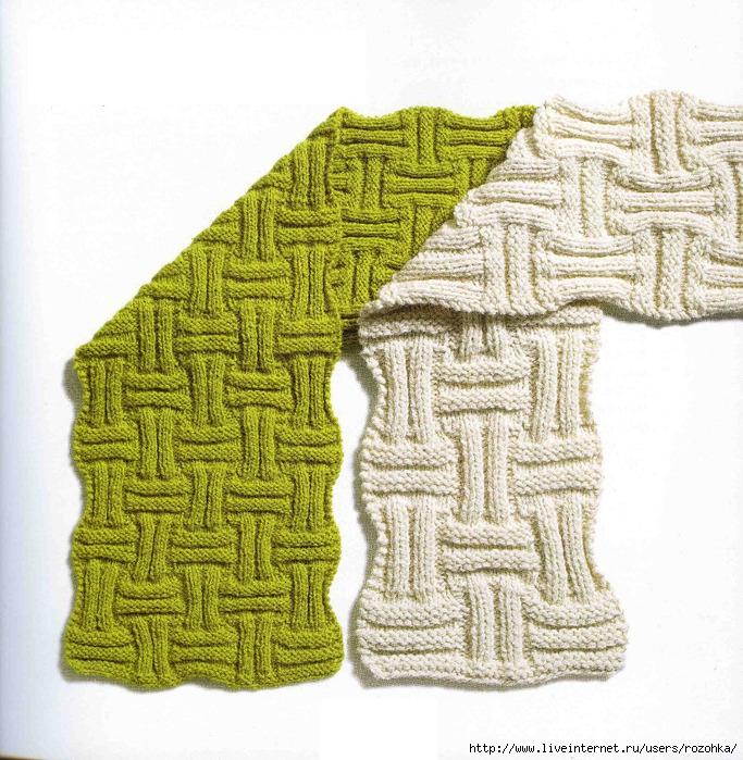 Рисунок для вязания шарфа