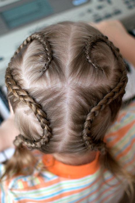 Косички для девочек на короткие волосы с пошаговым