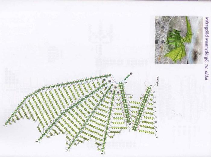 Дракон из бисера - схема, подбор материала, творческий настрой Мы будем делать из бисера дракона, у которого крылья...