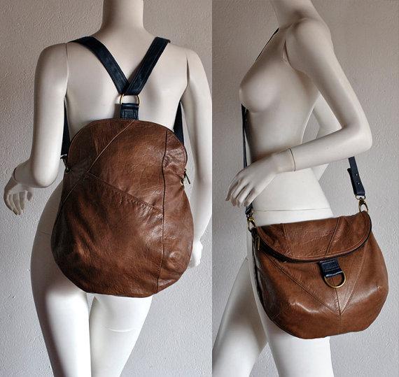 Вот наглядный пример того, как может выглядеть сумка из кожаной куртки.  Сумки и рюкзаки из кожаных курток.