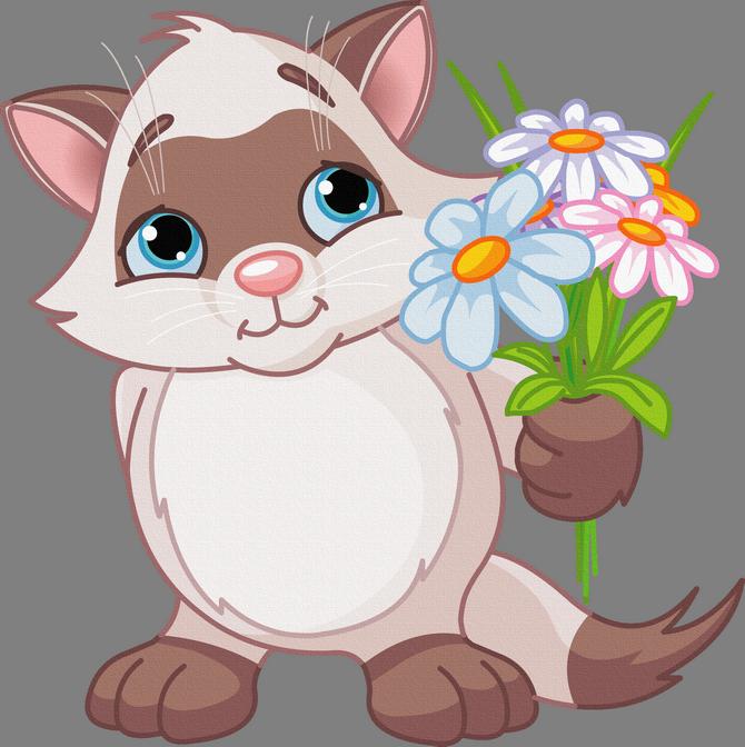 Картинки мультяшки с цветами 6