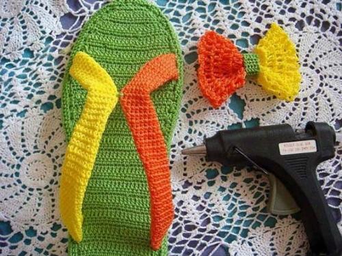схема вязания летних сапожек