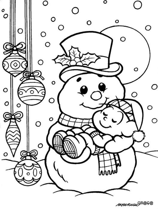 Cebolinha dormindo no boneco de neve[5] (528x700, 98Kb)