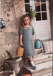 вязаное цветочное платье для девочки.