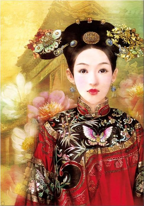 Портрет китайской девушки