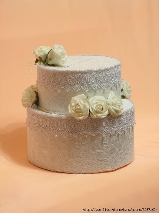 Свадебный торт для денег своими руками 10