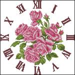 Просмотров.  Admin.  Схема вышивки крестом - Часы Sguare A arden Clock /розы.  7807. 04 Январь 2009.  Дата.