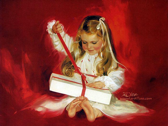 painting_children_childhood_kjb_DonaldZolan_04AGiftForLaurie_sm (700x525, 60Kb)