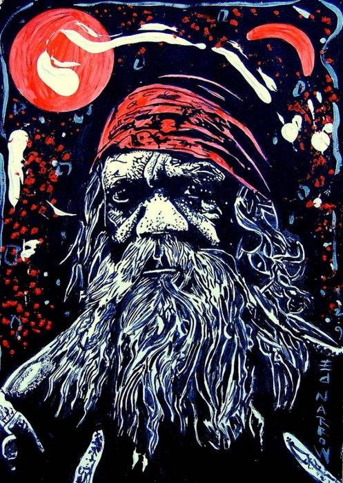 Яркий сюрреализм в искусстве Эда Нэроу (Ed Narrow) - Aboriginal 2009 (497x700, 365Kb)