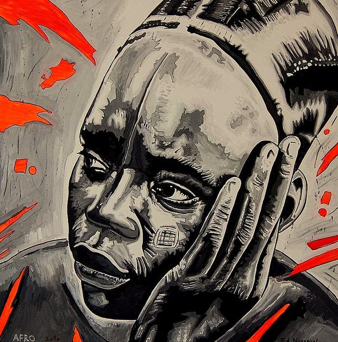 Яркий сюрреализм в искусстве Эда Нэроу (Ed Narrow) - Afro2010 yo (691x700, 198Kb)