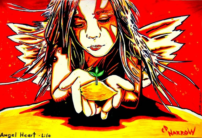 Яркий сюрреализм в искусстве Эда Нэроу (Ed Narrow) - Angel Heart-Life- (700x480, 135Kb)