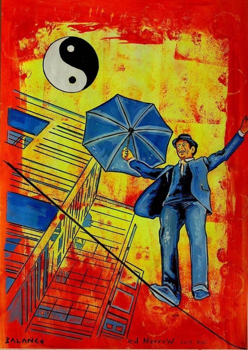 Яркий сюрреализм в искусстве Эда Нэроу (Ed Narrow) - balance (496x700, 348Kb)
