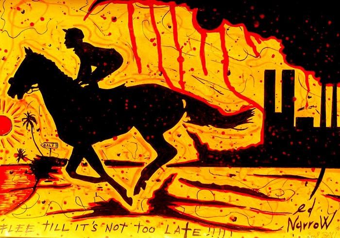 Яркий сюрреализм в искусстве Эда Нэроу (Ed Narrow) - Flee (700x491, 141Kb)